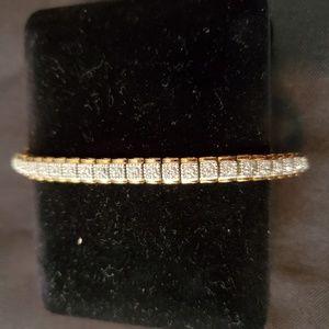 .925 Gold over Sterling Silver Tennis Bracelet